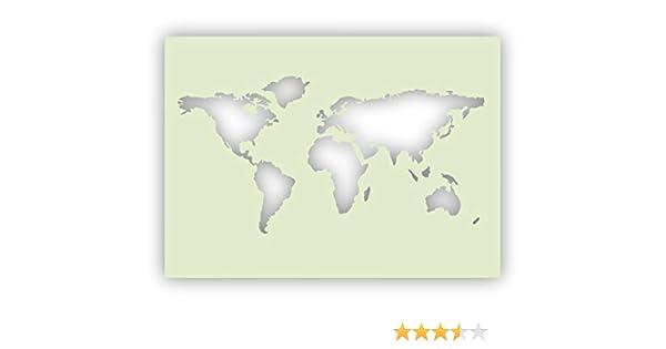 297 X 210 Mm A4 Schablone Weltkarte