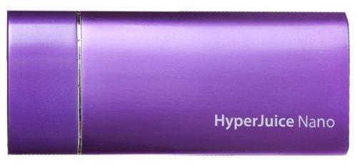 HyperJuice Nano Externer Akku für iPhone und iPod 1800 mAh inklusive USB Kabel (Lila) (Externer Ipod Nano Akku)