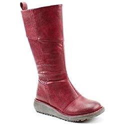 Heavenly Feet Robyn - Botas Veganas para Mujer, Color Rojo, Talla 39 EU