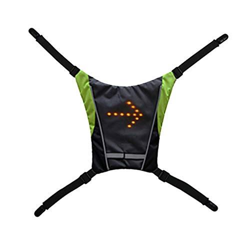 Barlingrock 2019 Neue Weste mit LED-Signalen, Wasserdichtes Mountainbike-Rennrad vorne hinten Reflektierende Warnweste mit LED-Signalen Reflektierende Sicherheit