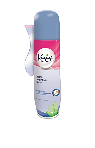 Veet Crema Spray Pelli Sensibili, 150 ml