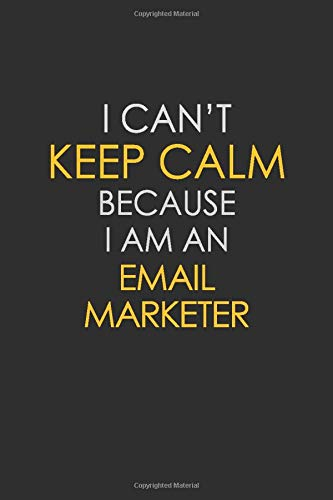 I Can't Keep Calm Because I Am An Email Marketer: Motivational : 6X9 unlined 129 pages Notebook writing journal