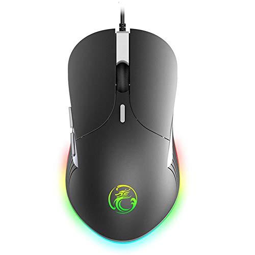 Optische Gaming-Maus, IMICE X6 USB Wired RGB Gorgeous 6400 DPI verstellbar -