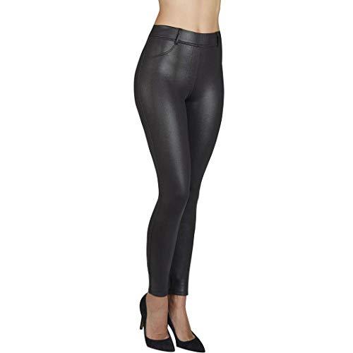 YSABEL MORA - Pantalon Efecto Cuero Push UP Mujer Color: Negro Talla: x-Large