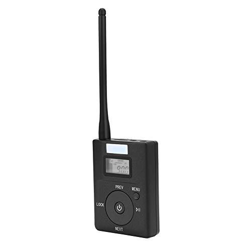 Richer-R Portable Wireless Audio Transmitter, Tragbare Wireless FM Sender Stereo Radio Broadcast Adapter,Kabellos Audio Transmitter FM Sender mit Antenne für Tourismus Konferenzzimmer Campus Fahren (Stereo Fm-transmitter)