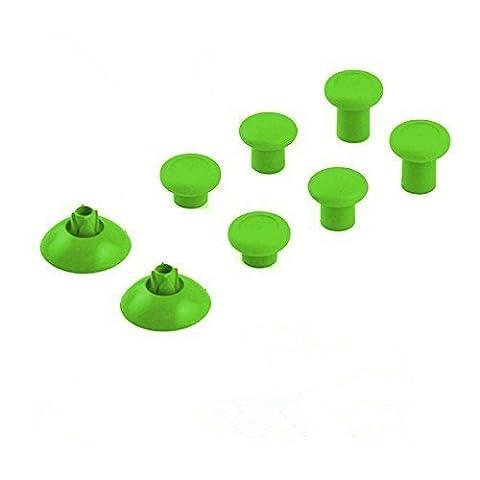 Canamite® Thumbstick Analogsticks Knöpf Button Set Ersatzteile für PS4/ Xbox One Elite 3,5mm Wireless Controller (Grün)