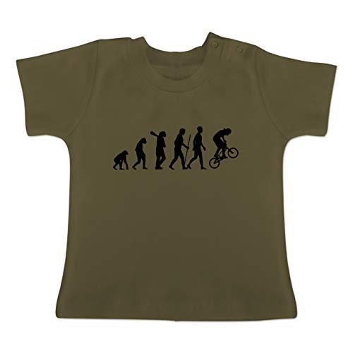 Evolution Baby - BMX Evolution - 12-18 Monate - Olivgrün - BZ02 - Baby T-Shirt Kurzarm
