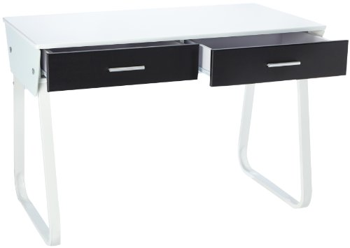 For Sale Buerostuhl24 673600 Desk Mira White High Gloss Front Black Reviews