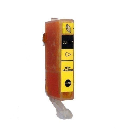 1 DRUCKERPATRONE MIT CHIP für Canon iP4850 iP4950 MG4150 MG5120 MG5150 MG5220 MG5250 MG5340 MG5350 MG6120 MG 6150 MG6250 MG8120 MG8150 MG8240 MX882 MX884 MX885 Pixma Serie mit Chip ersetzt CLI-526 Yellow