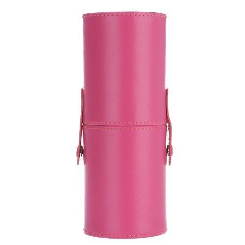 TOOGOO (R)Nouveau 12pcs professionnel manche en bois pinceau de maquillage Set cosmetiques pinceau kit outil de maquillage avec etui en cuir de la Coupe (violet)