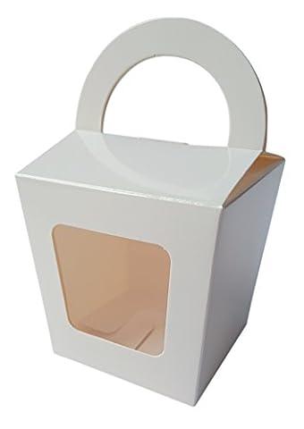 Ibex Cupcake-Box mit Griff Single weiß Cake Box 10Stück (Single Cupcake Box)