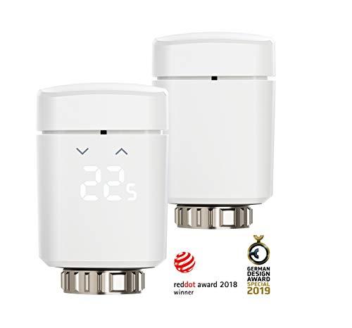 Eve Thermo - Smartes Heizkörperthermostat mit LED-Display, automatische Temperatursteuerung, keine Bridge erforderlich, integriertes Touch-Bedienfeld, Bluetooth Low Energy (Apple HomeKit)