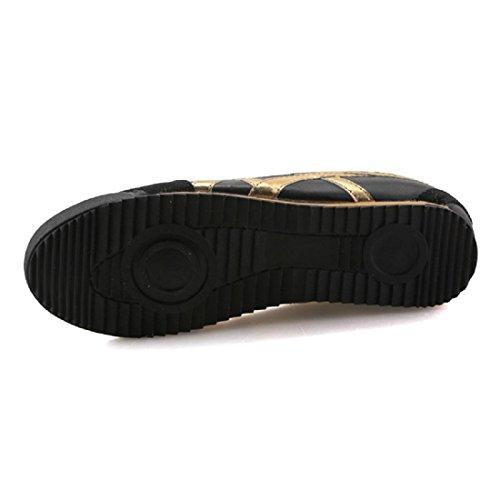 Hommes Chaussures de sport Chaussures de course Printemps Rétro Antidérapant Portable Randonnée Entraînement Plat Respirant PU Black