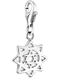Nenalina Plata Charm Colgante Chakra del corazón para Collares y Pulseras para Mujer 713222-000