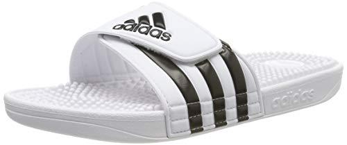 Adidas Adissage Ciabatte Unisex - Adulto, Bianco (Ftwr White/Core Black/Ftwr White Ftwr White/Core Black/Ftwr White), 42 EU