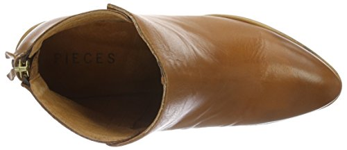 PIECES Psdolly Leather Boot Cognac, Stivaletti Donna Marrone (Cognac)