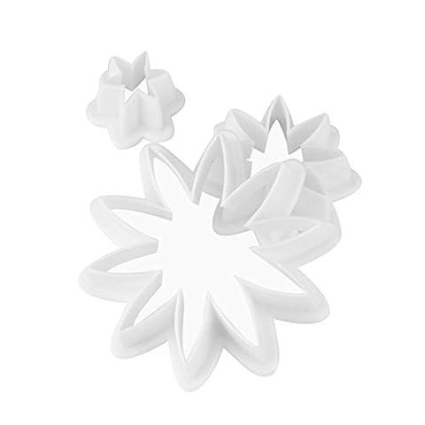 squarex 3Pcs Chrysanthemum Flower Birthday Cake Fondant Cookie Decorating Plunger Mold