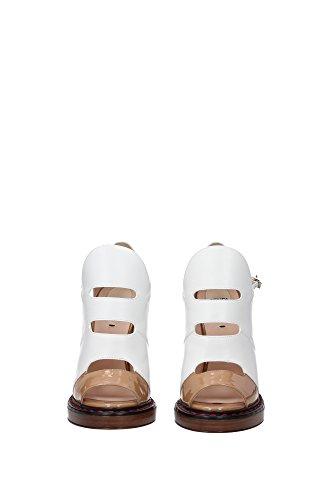 8K5270TVTF01C3 Fendi Sandale Femme Cuir Blanc Blanc