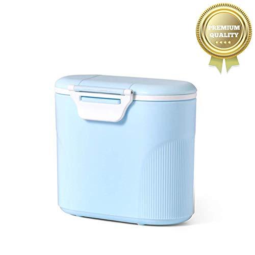 Sunshine smile Bebé Portátil en Polvo Stackable Box Dispensador de Fórmula,Set de recipientes para leche maternal,tupper infantile. (Azul grande)
