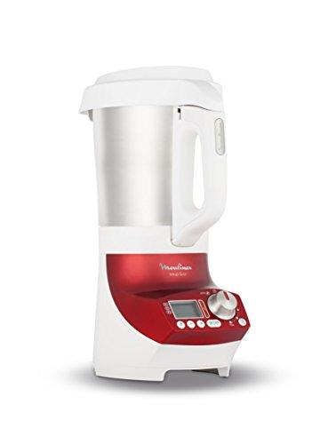 Moulinex LM906110 Blender Chauffant Soup et Co Blender Blanc/Rouge 1100 W