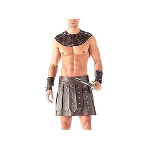 HFjingjing Sexy Kleidung Mens Erotische Dessous Gladiator Uniform Sexy Dessous Unterwäsche Unterhose Bodysuit G-String Jockstrap Briefs Cosplay Kostüm
