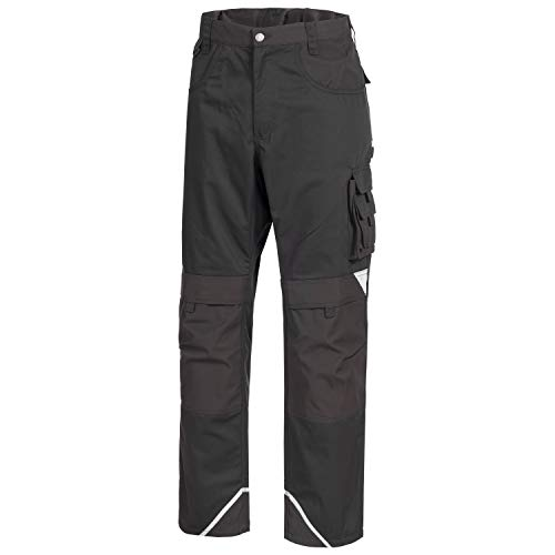 Nitras Motion Tex Plus Arbeitshose - Arbeitshosen lang für Herren & Damen - Arbeitskleidung Bundhose Schutzhose Arbeitsbundhose - Schwarz Größe 48