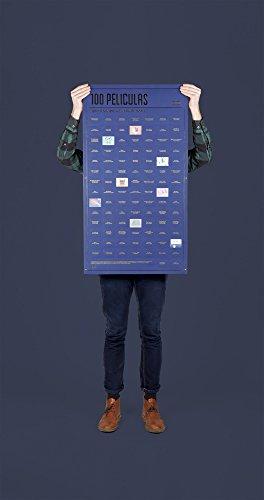 Doiy-DYPOSTMOS-Pster-con-100-pelis-que-tienes-que-ver-antes-de-morir-94-x-55-x-94-cm-color-azul