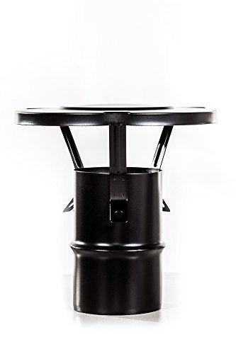 An camini f537080 - Terminale a cappello in acciaio, diametro 80 mm per sufa a (Fumi Di Scarico)