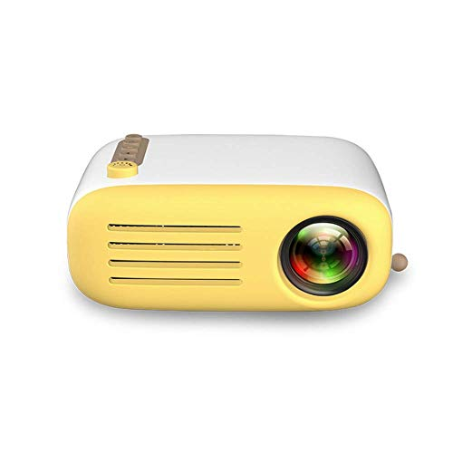 ZMM YG200 Home Mini Projektor 1080P 1800 Lumen Portable LCD LED Projektor Home Theater USB HDMI 3D Projektor Subwoofer,Yellow