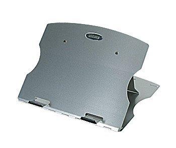 System-S Tragbare Ablage für Laptops Schoßtablett Lapdesk Lapstand Notebook Laptop Ständer Halterung Halter in Silber