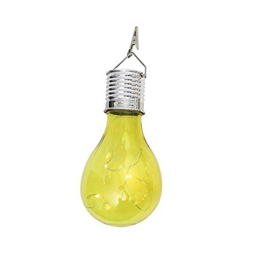 Winkey rotatif solaire étanche extérieur chaud Camping à suspendre LED Ampoule Lampe, PP, jaune, Bulb Size: Approx. 7.5 * 15cm / 3.0 * 5.9inch