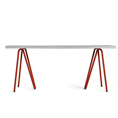 Betontisch Sinus - ideal als Esstisch, Schreibtisch, Küchentisch, für innen und außen, für Wohnung und Objekt geeignet! (Küchentisch, Möbel)