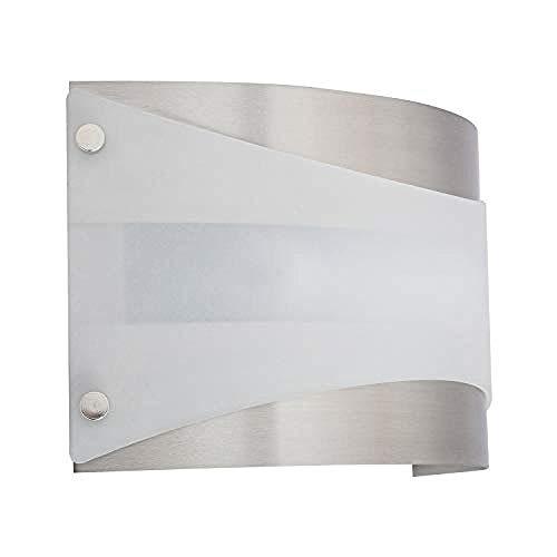 Moderne Minimalistischen Stil Wandleuchte Wandleuchte Einzelne Lampe Nickel Gebürstet Weiß
