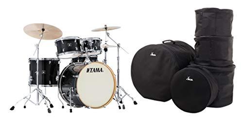 "Tama CL52KR-TPB Superstar Classic Drumkit Set (5-teiliges Schlagzeug, 22\"" Bass Drum, Ahornkessel, lackierte Oberfläche, komplette Hardware, inkl. Gigbags) Transparent Black Burst"