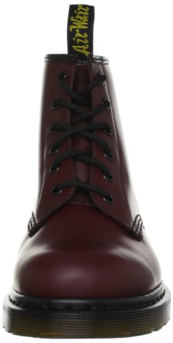 Dr. Martens 101 Smooth 6 Eye Boot , Stivaletti Unisex Adulto Rosso (Cherry Red)