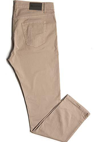 11d6e9ac8e Holiday Jeans Pantalone Modello Etan Primaverile/Estivo Uomo Cotone TG. 46  48 50 52 54 56 58 60 (Beige, 50)