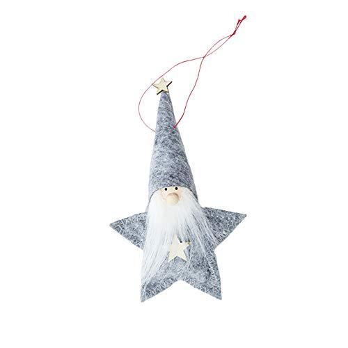 BIGBOBA Muñeco de Navidad colgante Papá Noel colgante colgante árbol de Navidad...