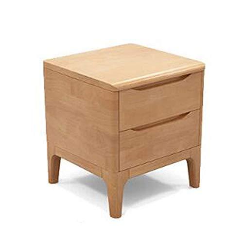 Eiche Dunkel Holz-basis (NBCMNJ Nachttisch aus massivem Holz voller Eichenholz Nachttisch moderner minimalistischer Schrank Schlafzimmermöbel im nordischen Stil)