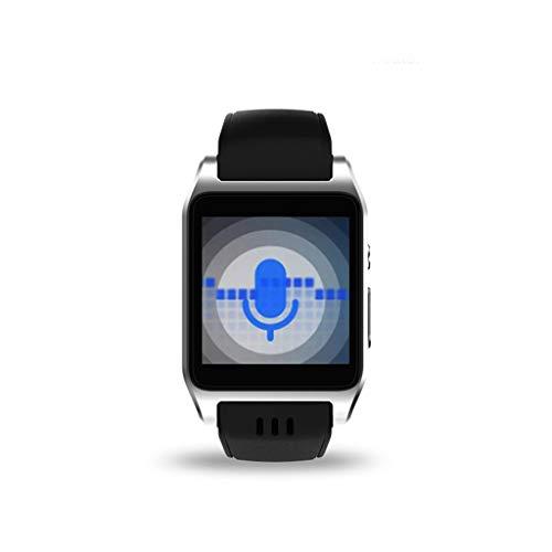 HHJEKLL Intelligentes Armband Smartwatch Schlaf-Verfolger Bluetooth ROM 8G RAM 512MB Nano SIM Karte WiFi Schritt-Wetter, 4G silbrig -