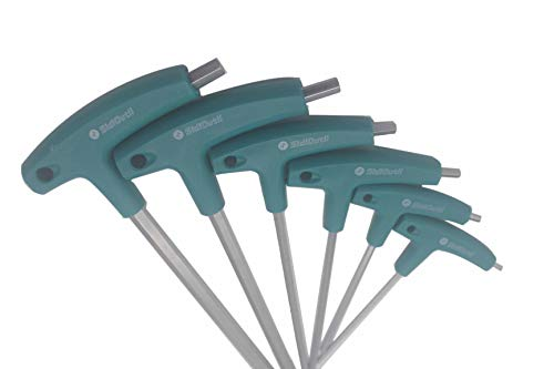 SidiOutil 6 Stk. Inbusschlüssel Innensechskant Schraubendreher T-griff Schrauben Werkzeug Sechskantschlüssel Innensechskantschlüssel Handwerkzeugschlüssel Reparaturwerkzeug für Fahrrad Auto