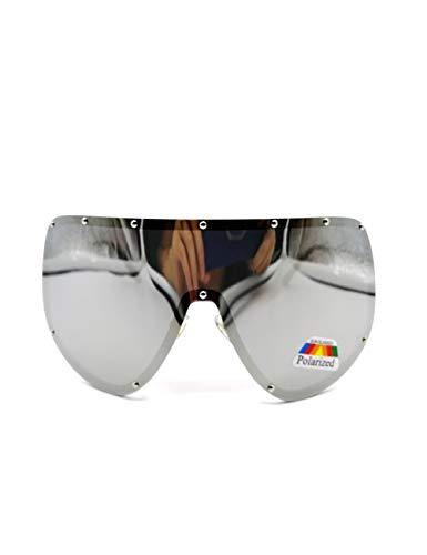 HNPYY Sonnenbrillen Großes Übergroßes Schild Polarisierte Verspiegelte Sonnenbrille Für Frauen Männer, D