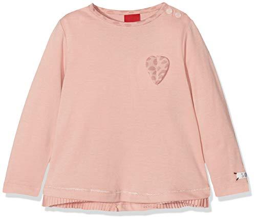 s.Oliver Baby-Mädchen 65.808.31.8153 Langarmshirt, Dusty Pink 4257, 74