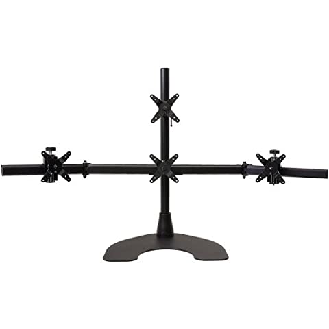 Ergotech Quad 1 Over 3 Desk Stand for LCD Monitor