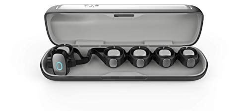 Tap Tragbare Bluetooth Tastatur & Maus, Cross-Plattform-Controller für Smartphone, Tablet, PC, Laptop und Smart-TV, Schwarz (groß/kleine)