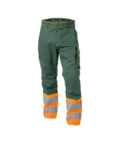 Dassy Phoenix 200810 High Visibility Work Trousers Green/Orange - W43Long (High Green Visibility)