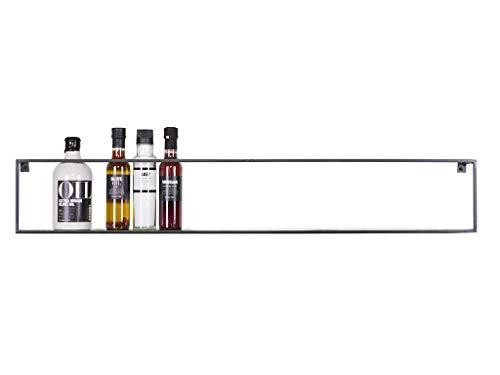 Wandregal Meert - Schweberegal - Hängeregal oder Küchenregal mit Breite 100cm und Tiefe 8cm für Deko, Bücher, Flaschen, Pflanzen - Aufbewahrungsregal für Wohnzimmer, Küche, Kinderzimmer, Flur & Diele -