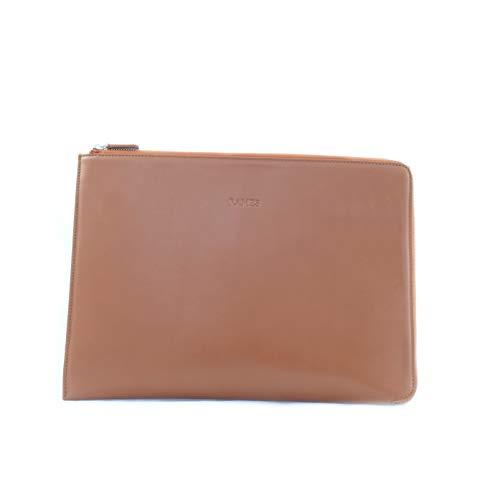 RAMES Laptop-Sleeve 13 Zoll | Hochwertiges Nappa-Leder | Edle Laptophülle mit Reißverschluss | Mit Innenpolster | Für MacBooks geeignet | Handarbeit/Nachhaltig | Maße (BxHxT): 34x24x2 (Toffee Braun) -