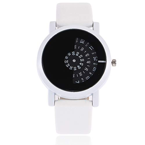 Armbanduhr Damenmode Einfache Uhr Ultradünn Quarz Analoges Retro Lederarmband Damenarmbanduhr Watch LEEDY