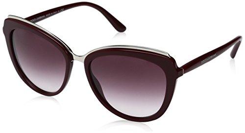 Dolce & Gabbana Damen 0DG4304 30918H 57 Sonnenbrille, Rot (Bordeaux/Violetgradient),