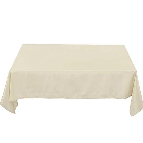 Deconovo Nappe de Tables Rectangulaire Anti-tâche Imperméable de Salle 137x274cm Beige Crème